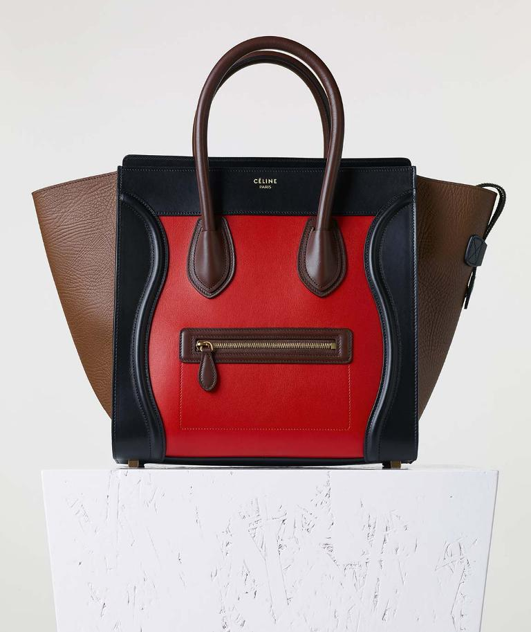 celine 17 bright red calf and lambskin 2500