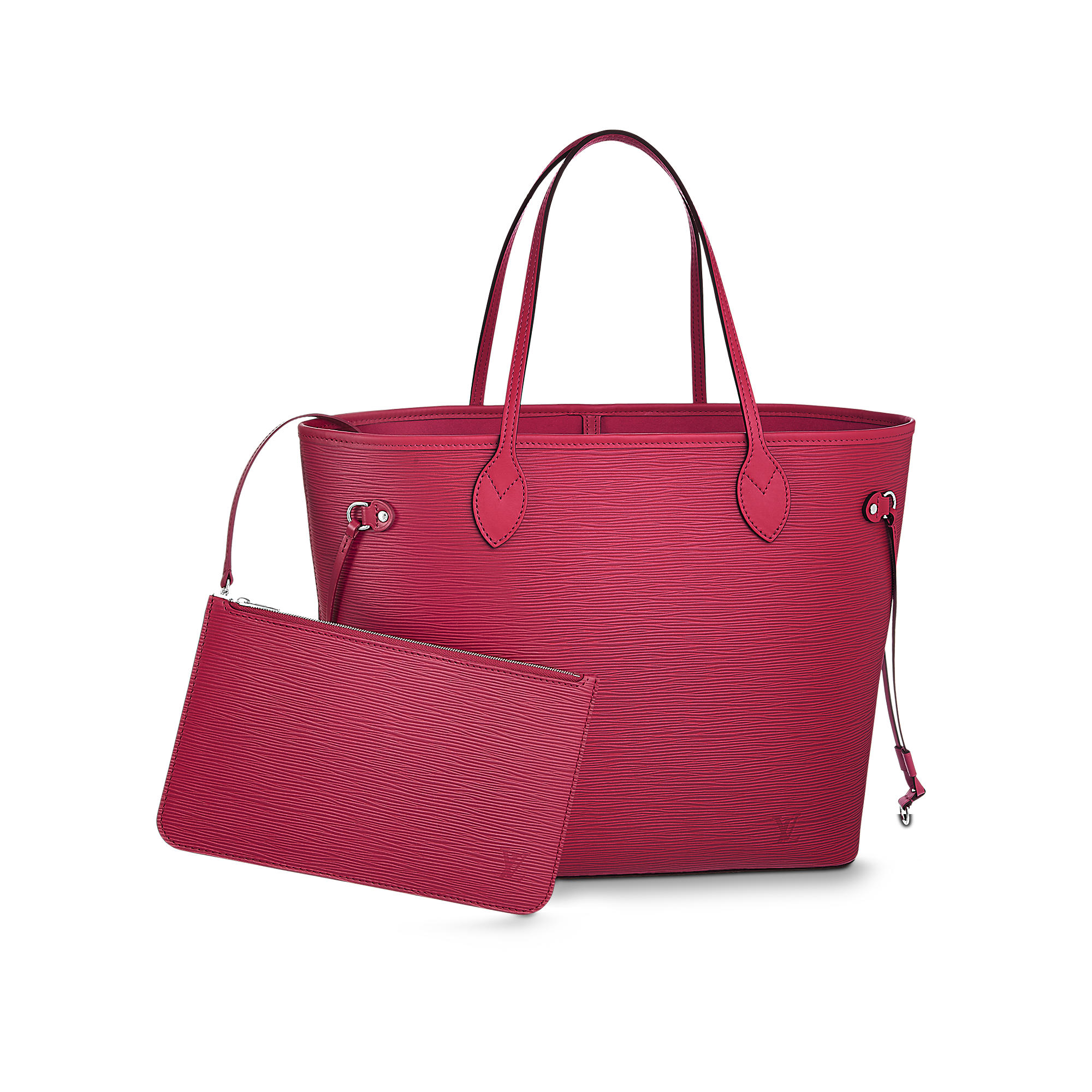 neverfull mm epi leather fucsia