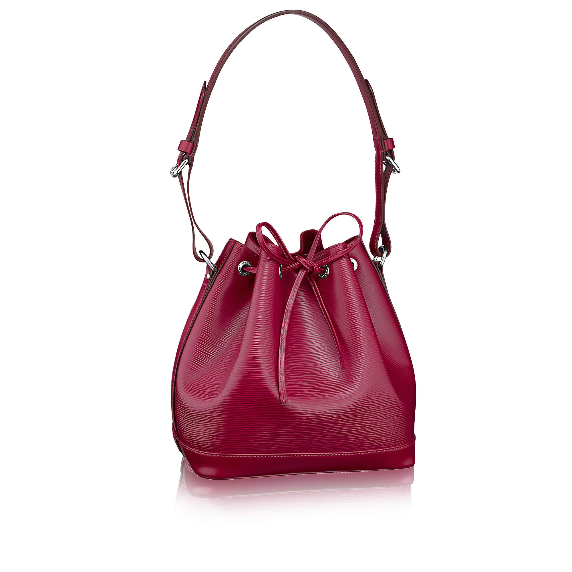 petite noé nm fucsia epi leather