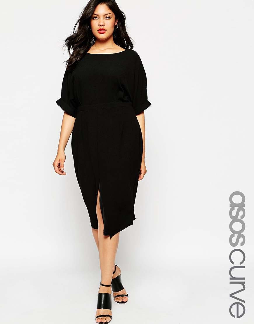 4_Vestito morbido Asos Curve, in tinta unita e con cut-out sul retro (58,99 € su Asos)