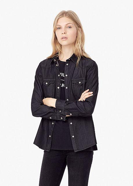 camicia di jeans mango