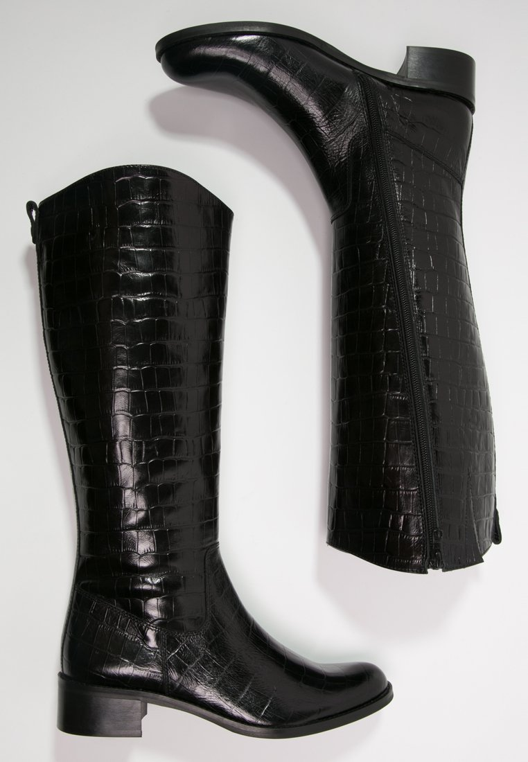 11_Stivali da donna neri senza tacco