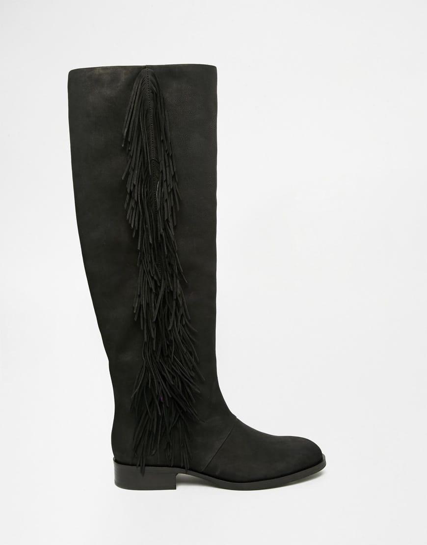 17_Stivali da donna neri senza tacco