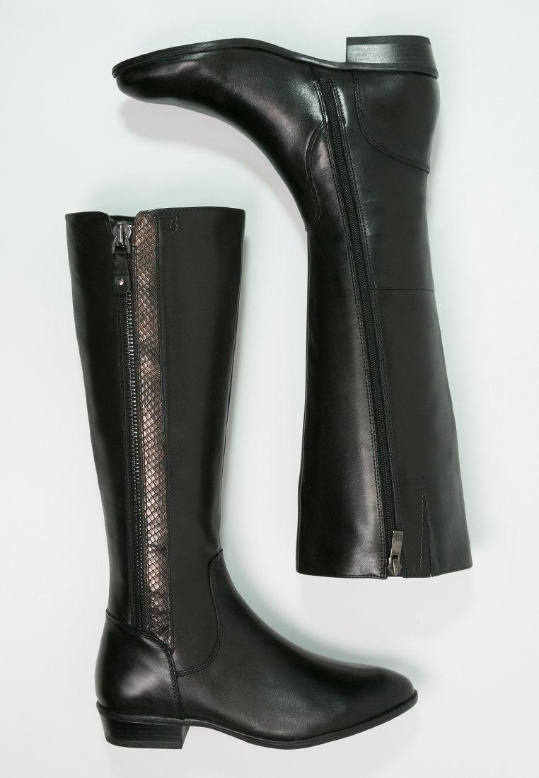 4_Stivali da donna neri senza tacco