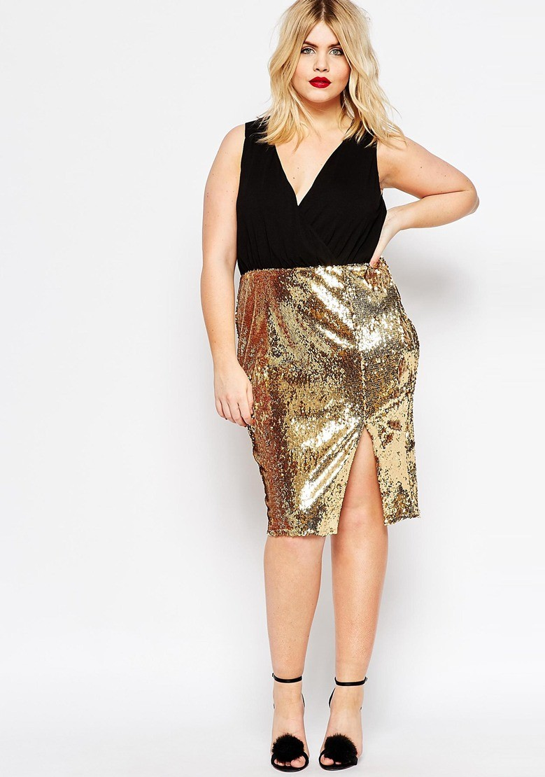 new style 421cd d06a4 Holiday party look: abiti curvy per Natale e festività