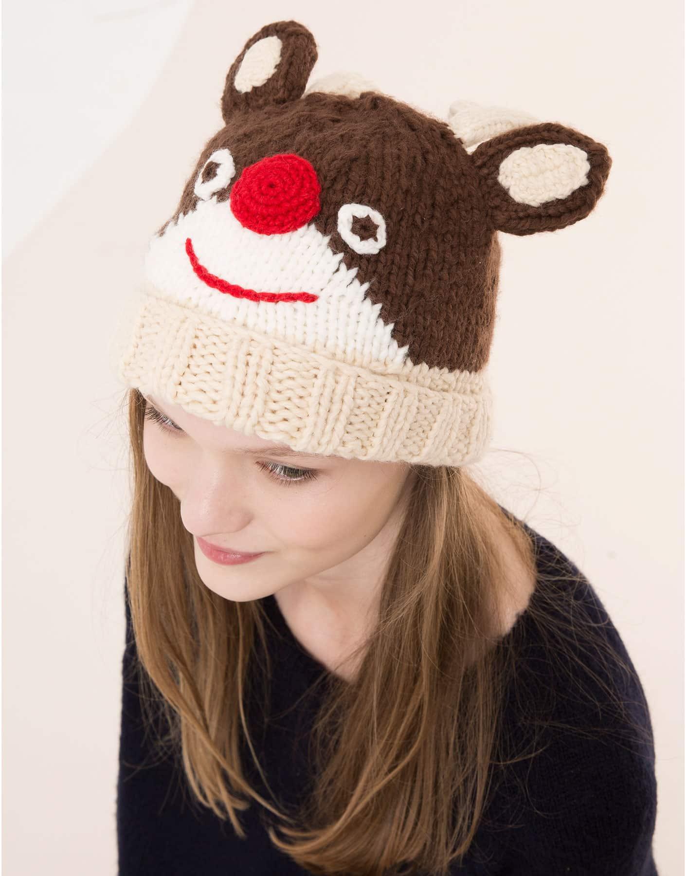 berretto in maglia con renna di Pull&Bear