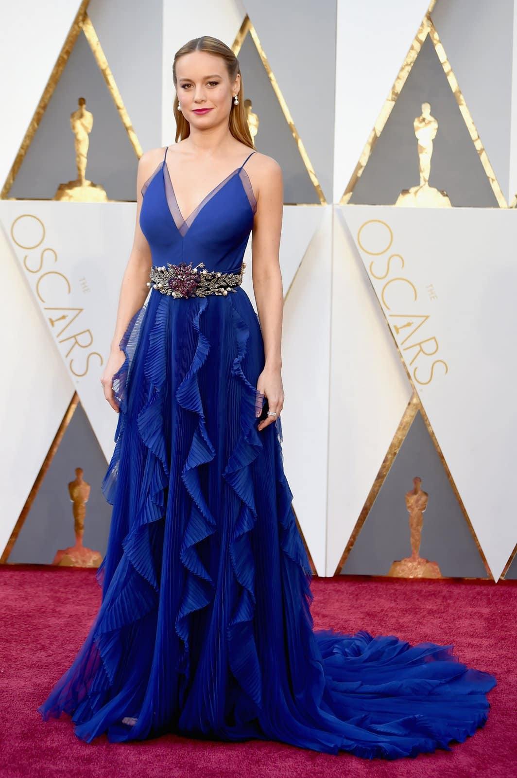 Brie Larson in Gucci oscar 2016