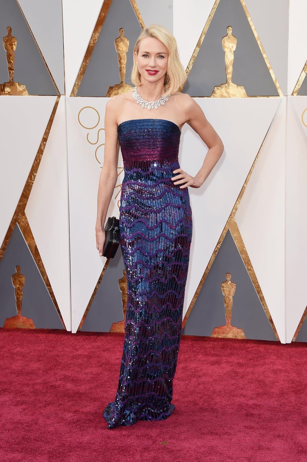 Naomi Watts Armani oscar 2016