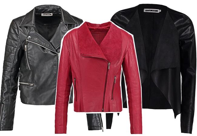 giacca pelle tubino nero