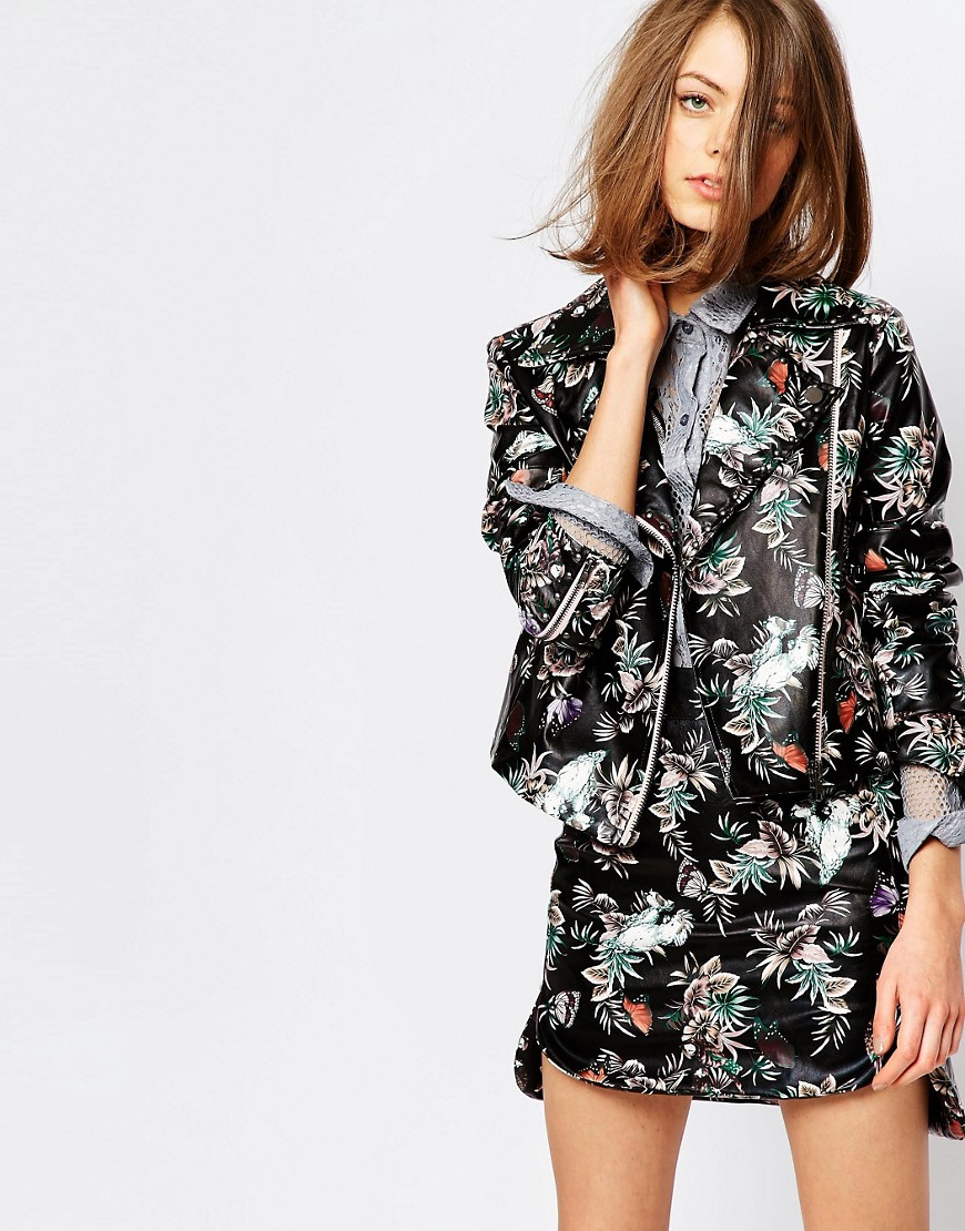 giacca pelle dipinta primavera 2016