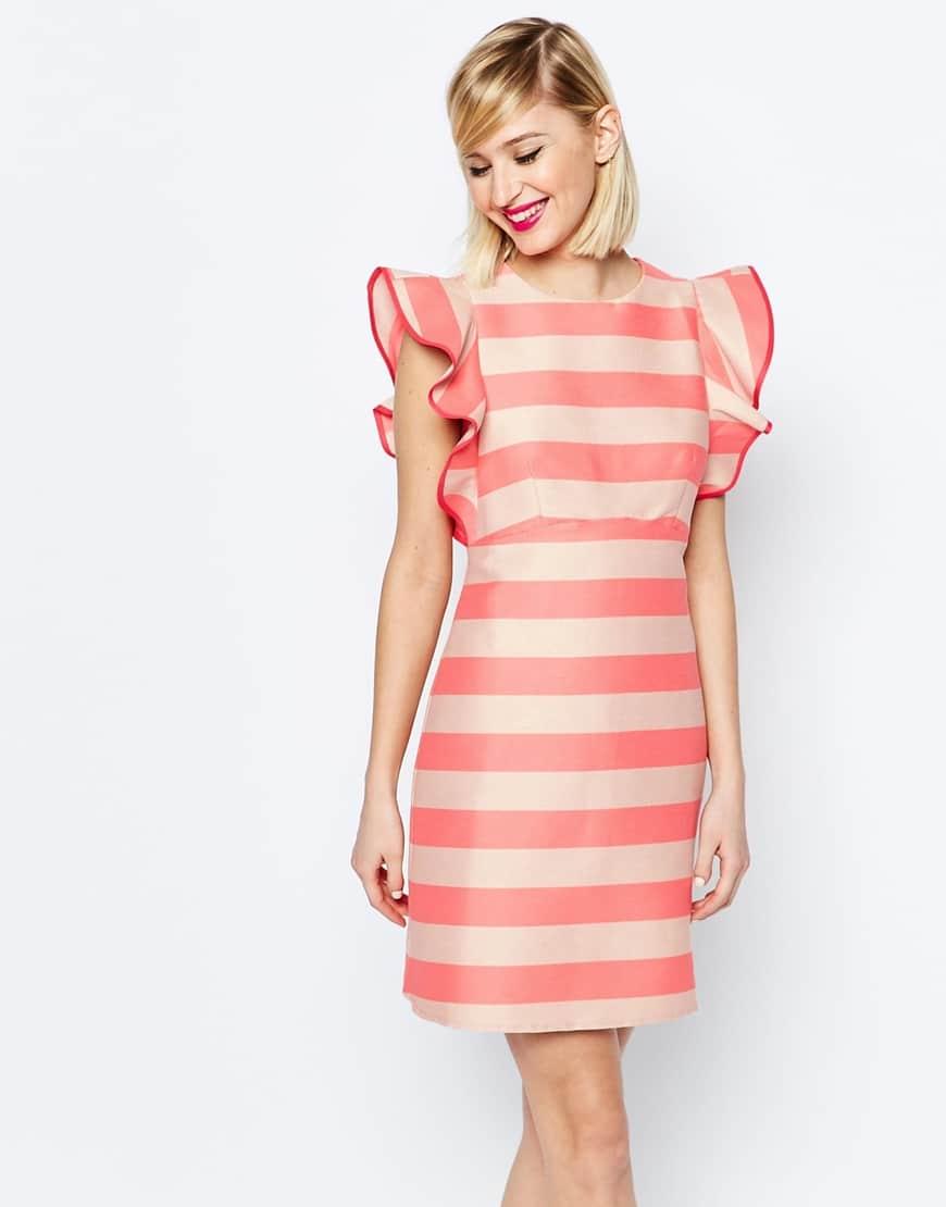 vestiti righe rosa