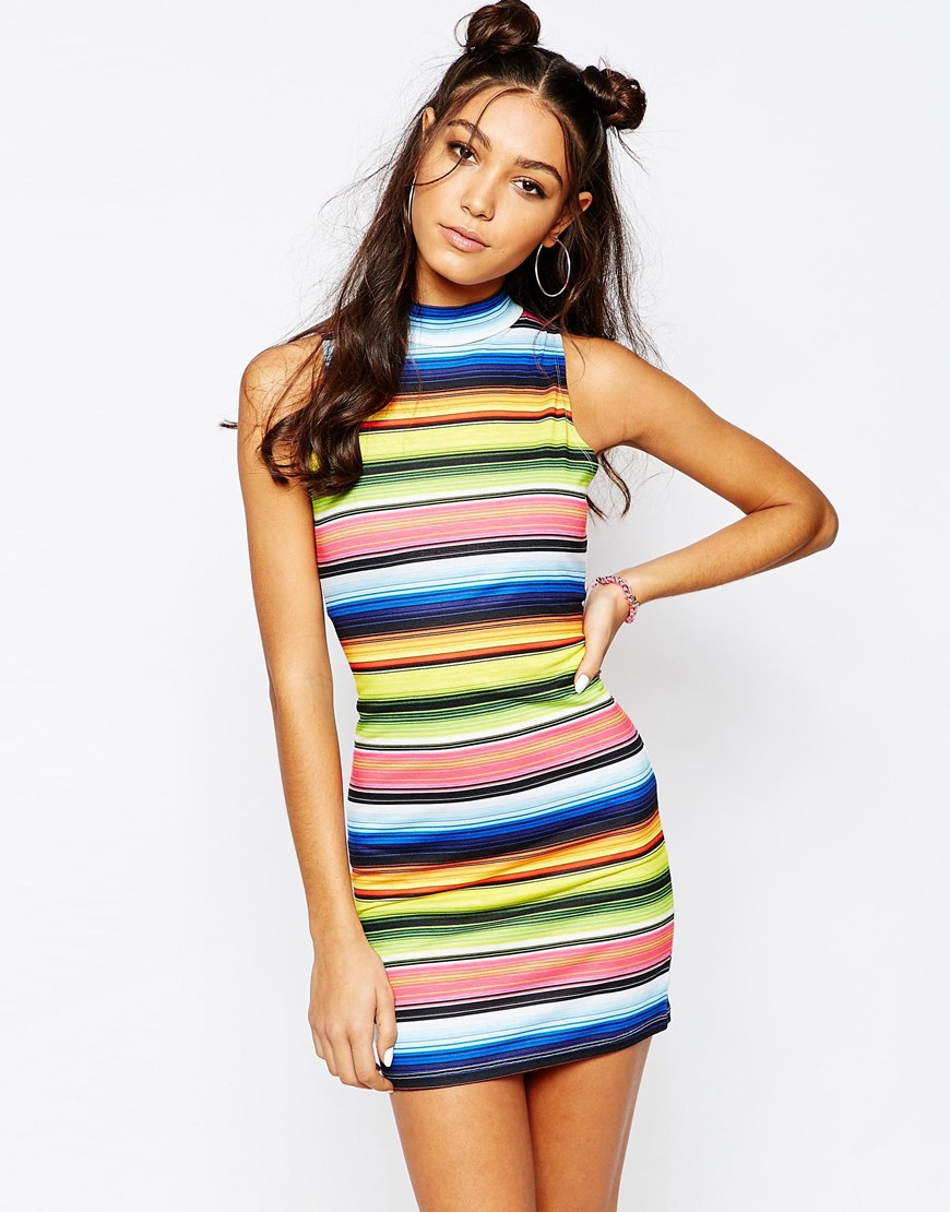 vestiti righe multicolore