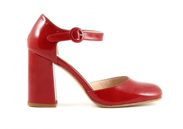 ballerina rossa tacco medio