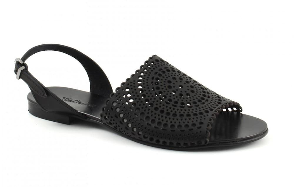 sandali piatti neri