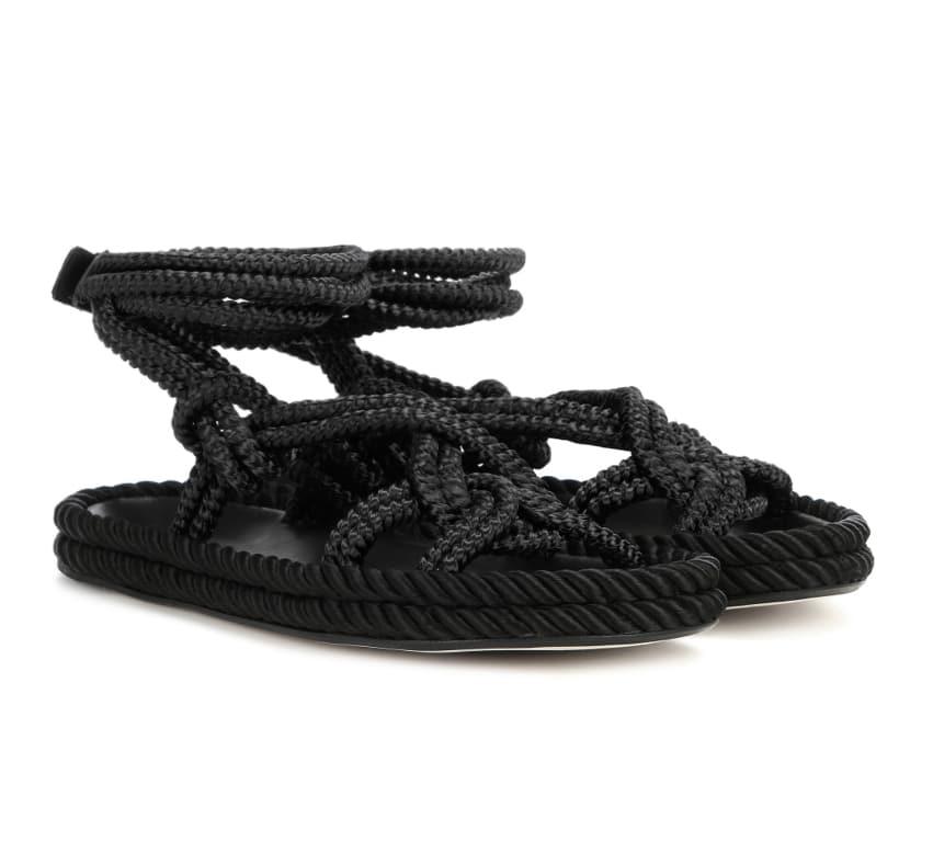 online store 00ee1 5bf60 I sandali piatti con le corde di Isabel Marant