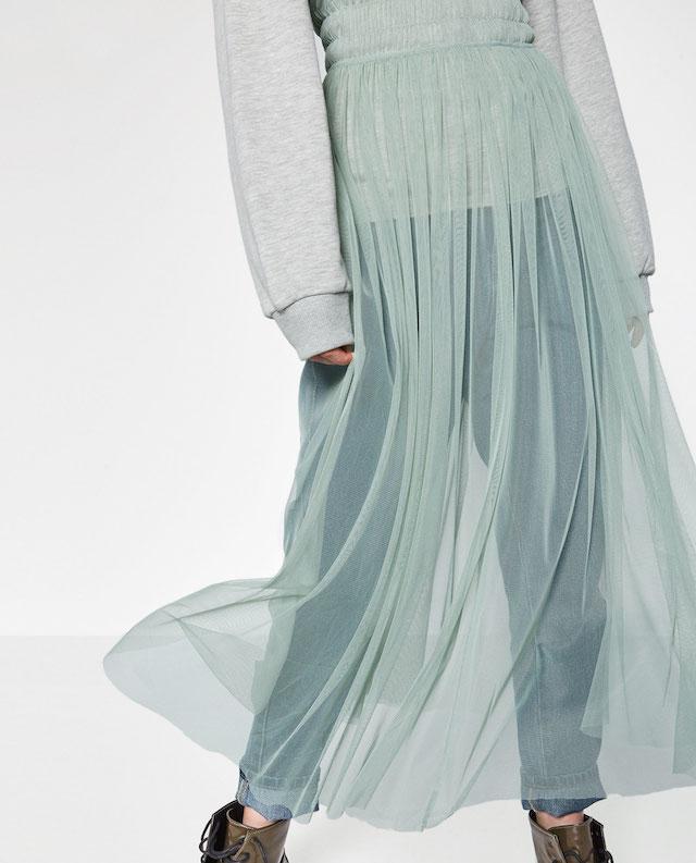 vestito tulle trasparente
