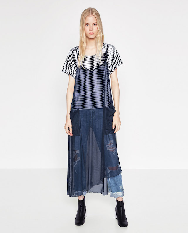 24fcbce0f9b8a6 Trend preview  abito in tulle trasparente sopra i jeans