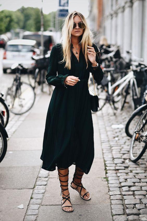 vestiti lunghi abbinamenti sandali