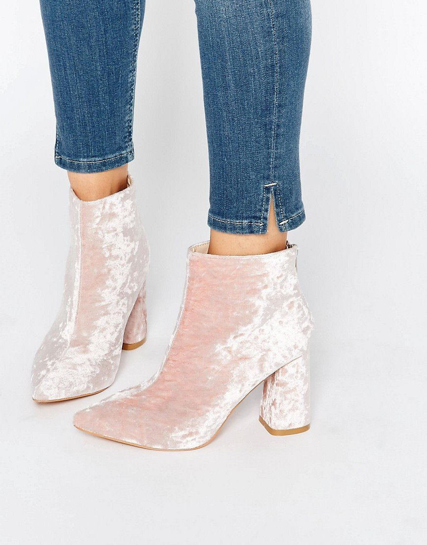 Scarpe velluto rosa autunno 2016