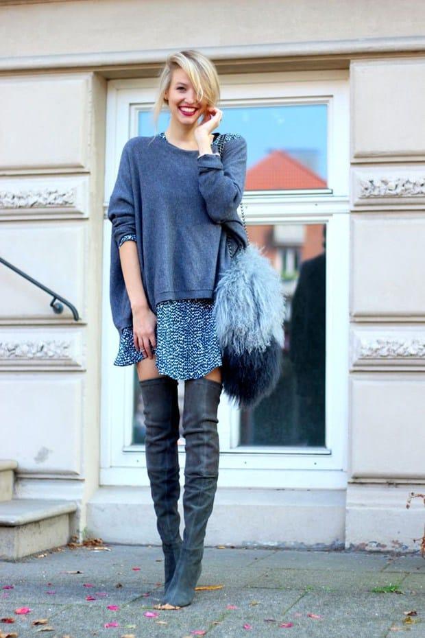 Stivali sopra il ginocchio  i colori di moda 6f0838fe0a5