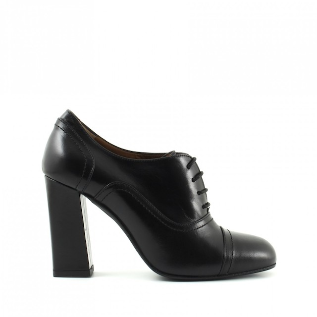 francesine scarpe pelle nera