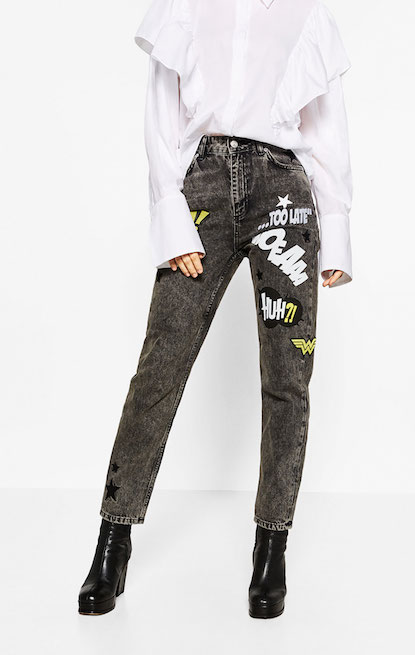 jeans toppe ricami