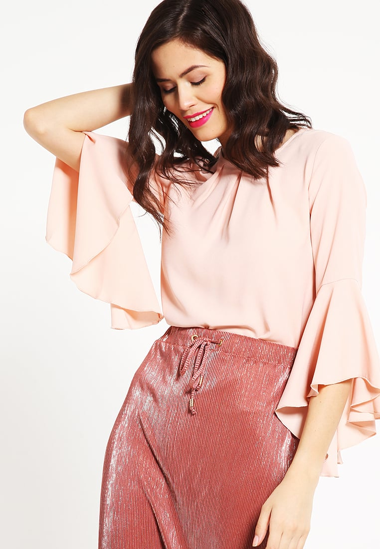 camicia rosa cipria maniche ampie