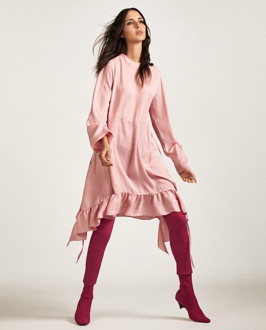 zara vestito rosa 2017