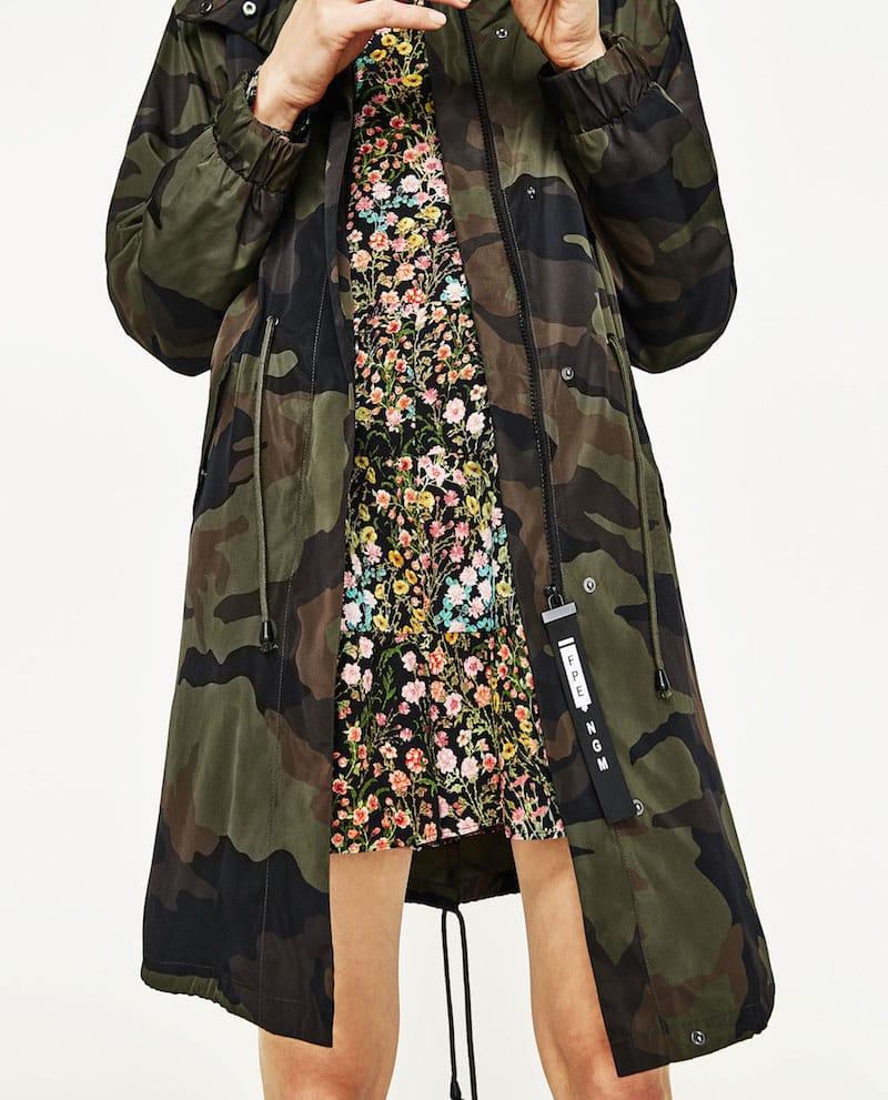 giacca militare zara