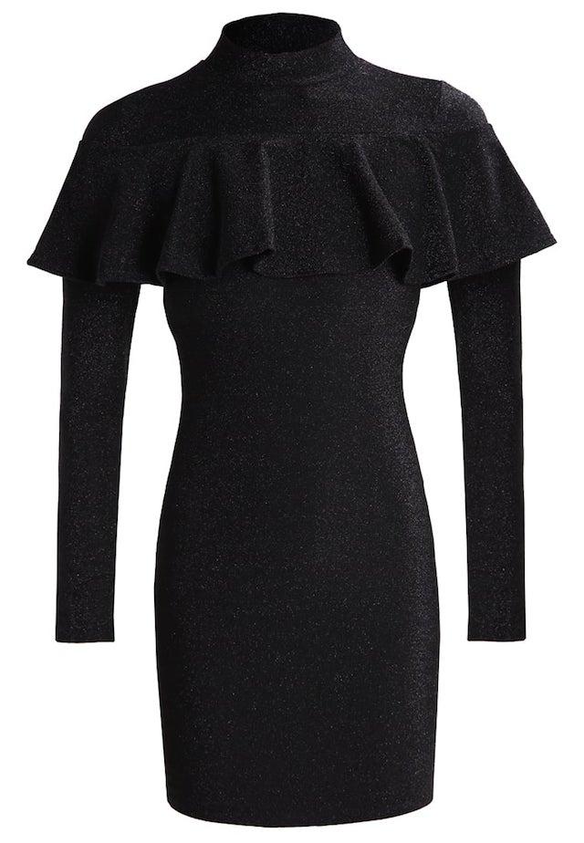 vestito nero aderente stile anni novanta nero