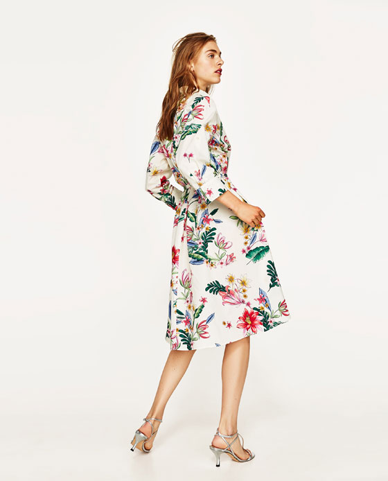 Zara: i nuovi arrivi per l'estate 2017 fra vestiti flower