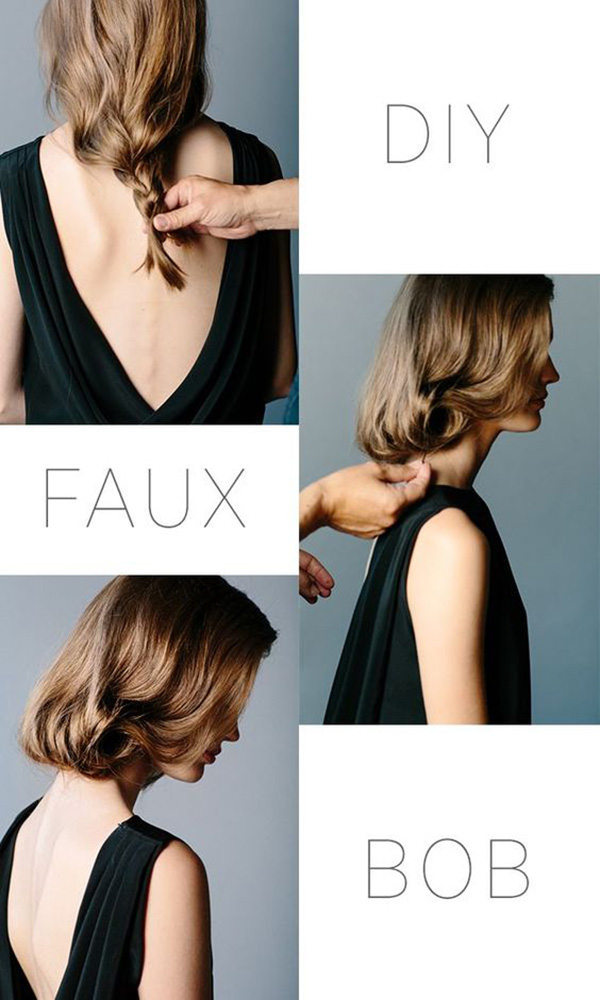 Tutorial faux bob