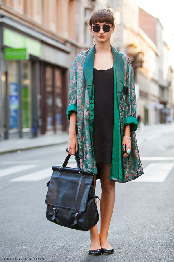 Kimono e little black dress