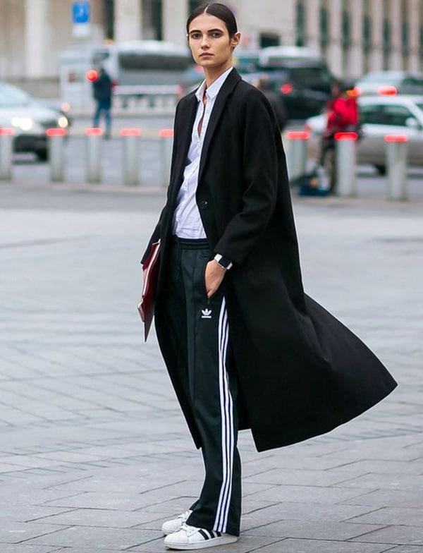 Pantaloni da jogging e cappotto