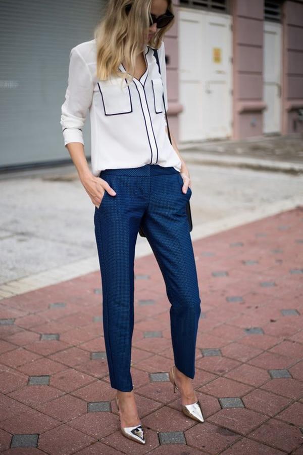 Pantaloni eleganti e décolleté