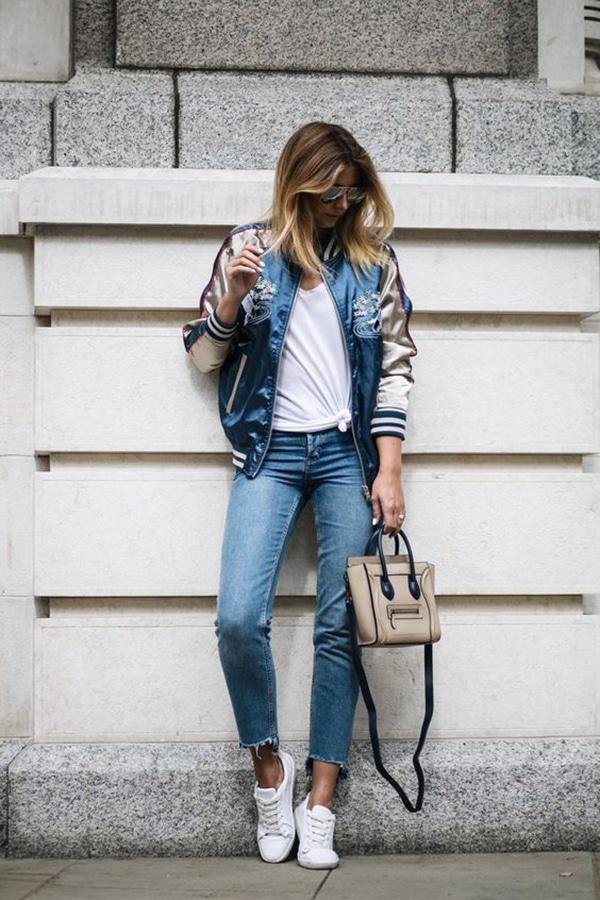 Bomber e jeans