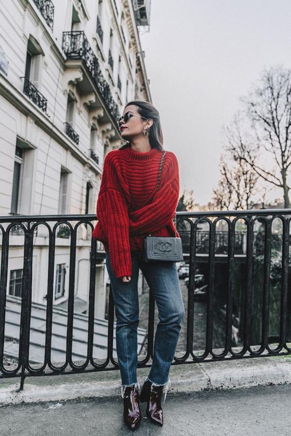 Maglione oversize e jeans