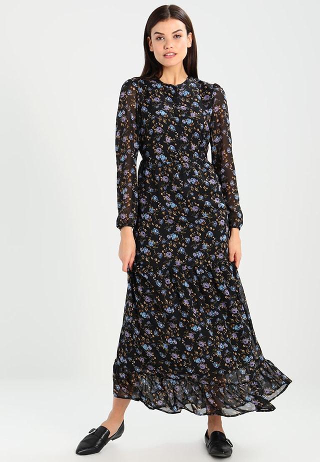 NUOVO Stampato Finte Wrap Dress-LUNG