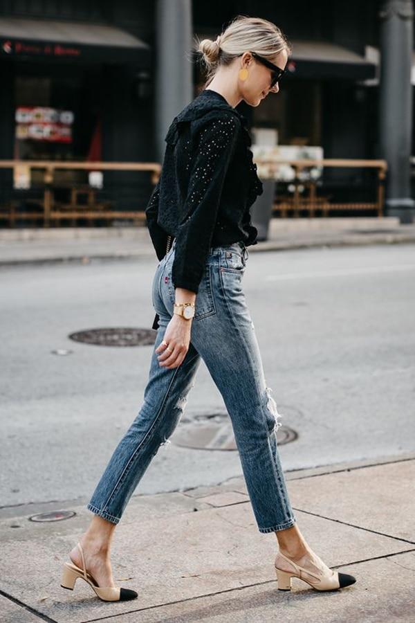 Jeans skinny e décolleté