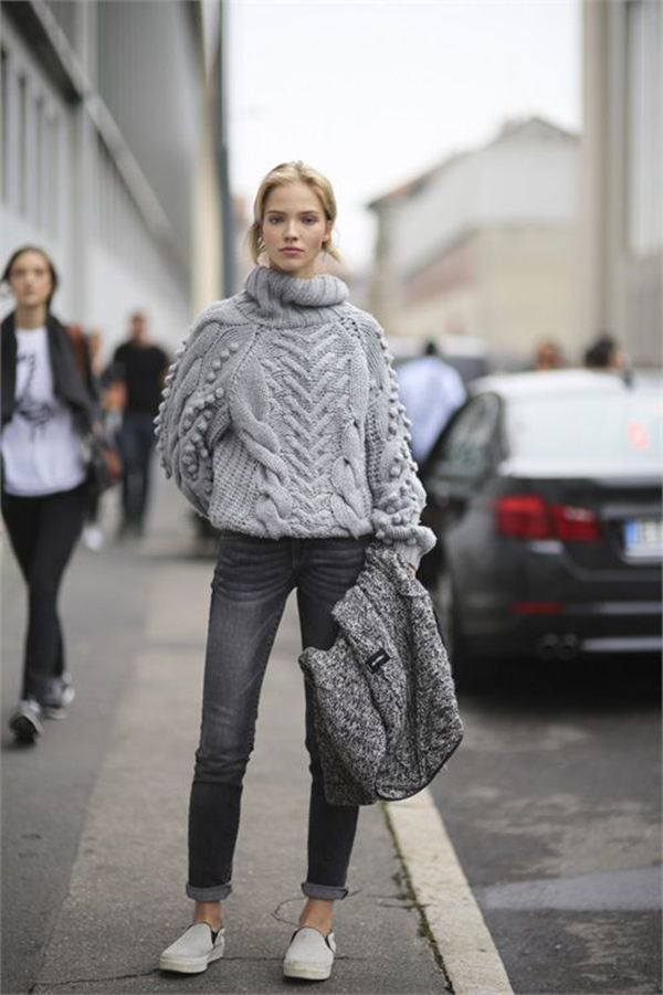 Jeans skinny e maxi pull