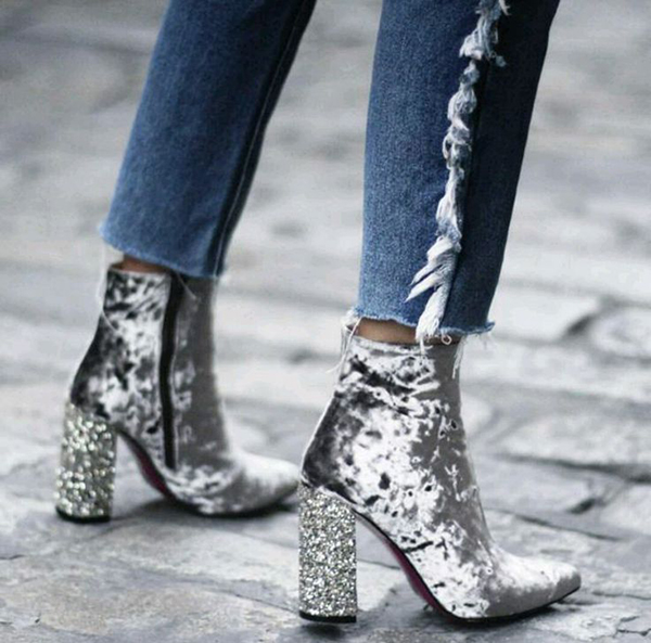 Scarpe di velluto: i modelli di punta dell'autunno inverno