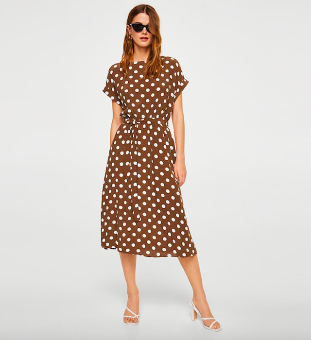 Abito Chemisier A Pois from Zara on 21 Buttons