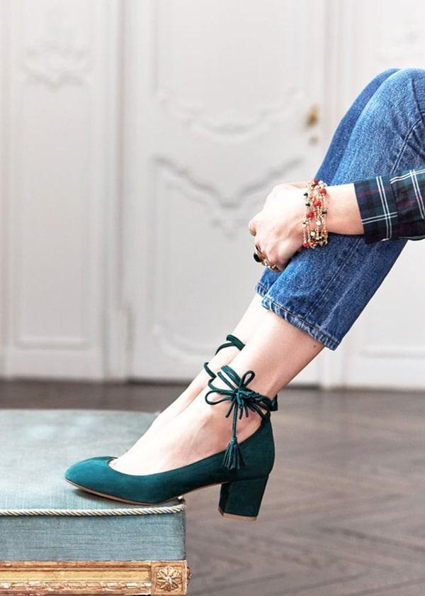 Scarpe con tacco midi
