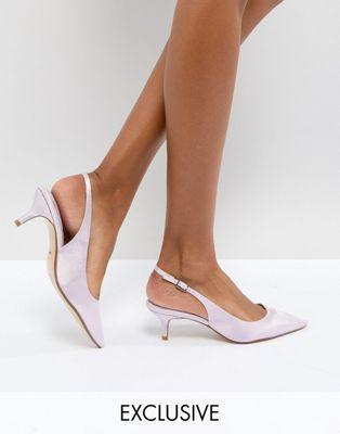 Dune London Bridal – Cassandra – Scarpe lavanda con cinturino posteriore e  tacchetto a spillo 114 23b22babac8