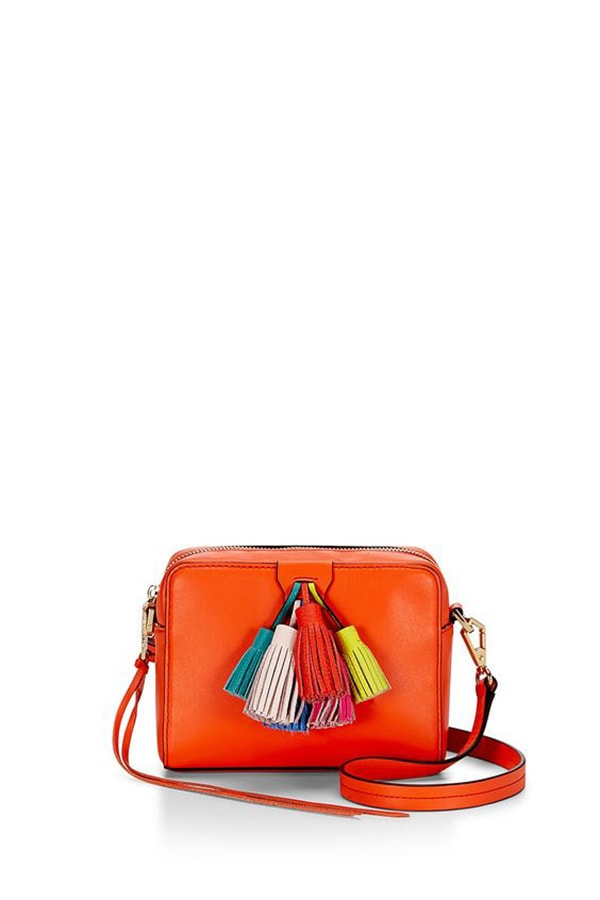 Mini bag a tracolla con le nappe