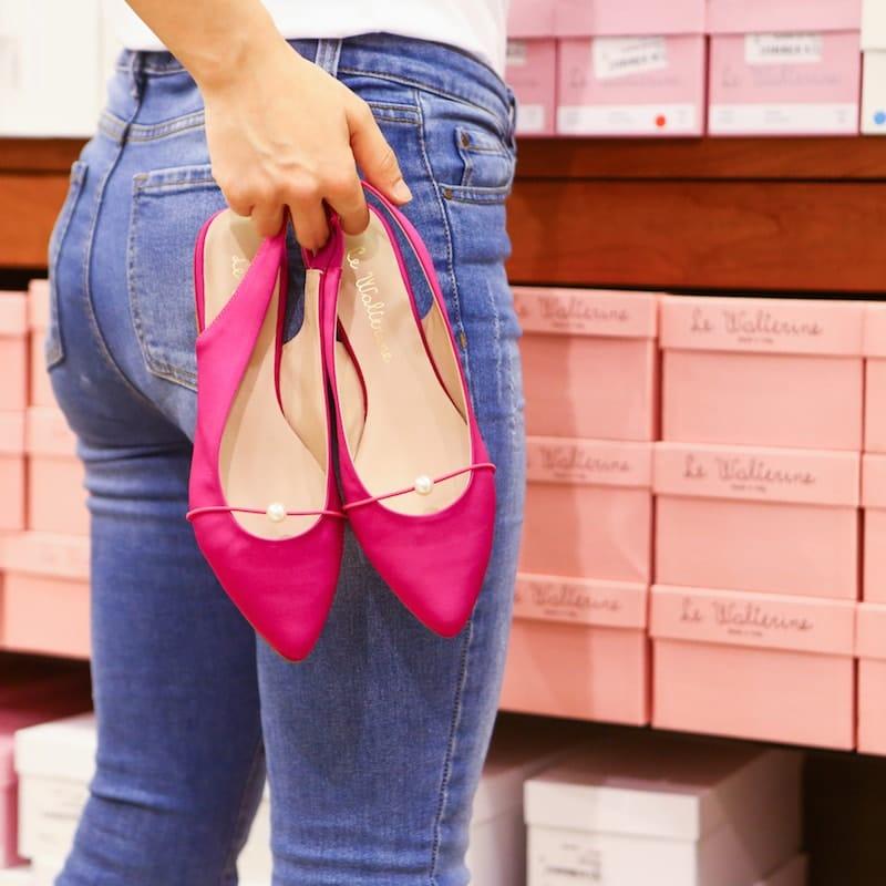 sandali eleganti raso