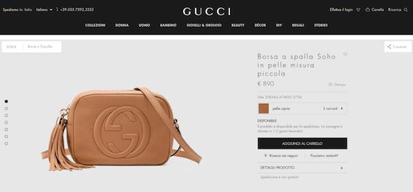 747ddf613f Se non avete modo di raggiungere una boutique Gucci monomarca, andate dal  vostro rivenditore di fiducia oppure affidatevi al sito e al loro sistema  di ...