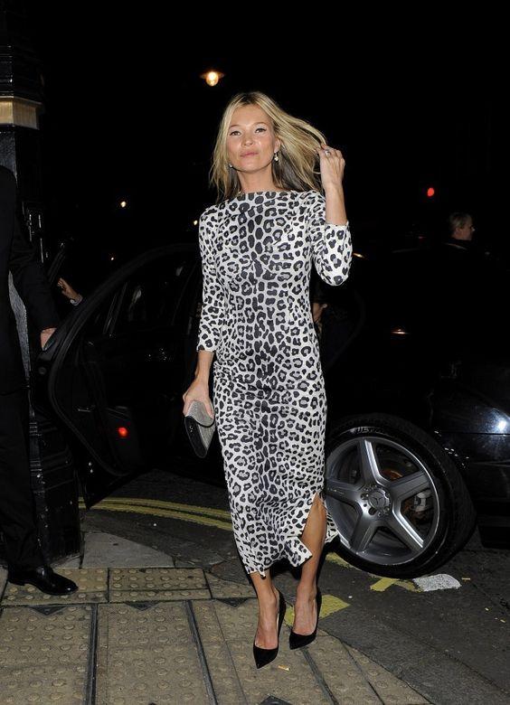 vestito leopardato lungo come indossarlo