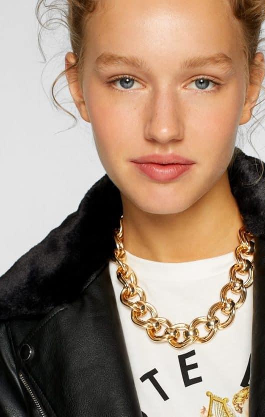 collana catena dorata grossa
