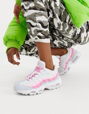 chunky sneakers nike rosa